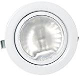 1x Pack 12V Spot encastrable pour meuble Luna avec 20W Ampoule halogène/intensité variable/AMP Prise et câble Couleur: Blanc