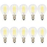 10X E14 Ampoule de Edison Retro 4W Ampoule de Filament G45 Vintage LED Blanc Froid 6500K Super Brillant Edison LED ...