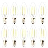 10X E14 Ampoule Filament 2W Ampoule Edison Retro LED C35 Ampoule Bougie Tungsten Ampoule Blanc Chaud 2700K Lampe à Filament ...