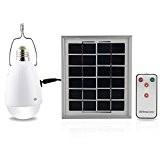 12 LED Lampe Solaire, Mabor Ampoule Lampe 12 LED Standard Solaire lampe Sécurité Culot E27 Panneau solaire AC / DC ...