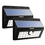 [2 Pack] 20 Lampe Solaire Jardin led sans fil, Mpow Luminaire Exterieur Détecteur de Mouvement avec Trois Modes Intelligents / ...