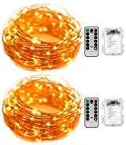 [2 Pack] KingTop Guirlande Lumineuse Étanche Programmable avec Télécommande 5M 50 LEDs Fil de Cuivre 8 Modes de Fonctionnement Décoration ...