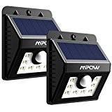 [2 PACK] Mpow Lampe Solaire LED Etanche Faro Lumiere 8 LED avec paneau solaire / Luminaire exterieur Sans Fil avec ...