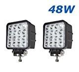 """2 W 48 X 4,3"""" work light 4560LM lumière de travail de LED peut être utilisé comme feu-route feu-croisement et ..."""