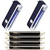 2x Portable UV Argent Dames + 4ampoules de rechange durabulb®-détecte les billets forgé
