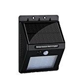 【20 LED 400 Lumens】Eclairage Exterieur, Patuoxun Eclairage Solaire avec 2200mAh batterie + Angle de détection à 120 degrés/ Eclairage de ...