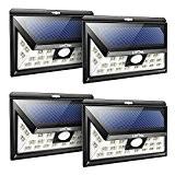 [4 Pack] Litom 24 LED Lampe Solaire à Détecteur de Mouvement, Éclairage de Sécurité Grande Angle 120° avec 3 Modes ...
