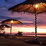 ACRATO Guirlande Lumineuse Solaire à USB LED de 7m 50 Ampoules Extérieur Imperméable avec Panneau Solaire Idéal pour Décoration Mariages ...