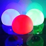 AGPtek Lumière de Jardin Clignotant Couleurs Changeant RGB LED Boule Flottante pour Pool, Ponds et Parties Mariage de 8cm/3 pouces