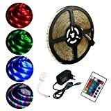 ALED LIGHT 5M Kit de Ruban LED 3528 RGB SMD Lumières Multicolore 300 LED Etanche Bande LED Flexible Lumineux Strip ...