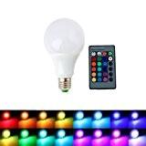 ALED LIGHT® AC85-265V E27 9W RGB Ampoule LED 16 Changement de Couleur Ampoule + Télécommande IR 24 Télécommande Clé pour ...