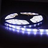 ALED LIGHT Nouveau Ruban LED Etanche 5M (16.4 ft) 3528 SMD LED Blanc Froid Lumière du Jour de 300 LED ...