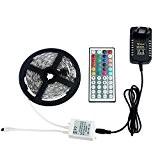 ALED LIGHT® Romantique Ruban Lumineux 5 Mètres 150 SMD 5050 RVB Bande LED Strip + Télécommande à Infrarouge 44 Touches ...