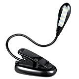 Amir Portable LED Lampe de Lecture, 4-Led Rechargeable et Flexible, 2-niveaux de Luminosité, l'adaptateur de Secteur et Câble USB Inclus, ...