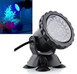 Amzdeal 36 LED Spot Led Submersible Ampoule / lampe LED étanche submersible blanc éclairage d'aquarium Spotlight pour piscine jardin