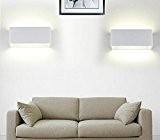 Amzdeal 6W Applique murale LED en Aluminium Lumière Interieur Decorative pour Chambre Couloir Hôtel Restau 6000K 540LM (Blanc froid)