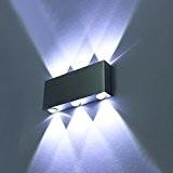 amzdeal® Applique murale Lampe murale LED SMD5050 mur intérieur en aluminium 6W blanc froid