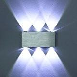 Amzdeal® Applique murale LED 18W éclairage decoratif Lampe murale LED SMD 5050 aluminium Blanc