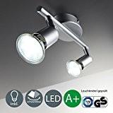 Applique spot/plafond de plafond LED/Spot/GU10/3W/250lumen/orientable/titane, titane, GU10 6.00 wattsW 230.00 voltsV[Classe énergétique A+]