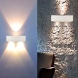 Auralum® Applique Lampe de Mur Éclairage Murale LED Demi-rond Blanc 3W 300LM pour Couloir Chambre Lumière Douce Blanc chaud