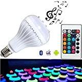 autai Smart sans fil Bluetooth Télécommande Changement de couleur ampoule RGB 4W E27/E26ampoule LED d'éclairage Parti application gratuite pour Smart ...