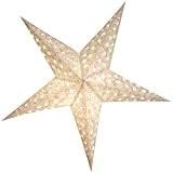 BRUBAKER Étoile de Noël avec Impression Florale Scintillante Décorative Blanc Argent 60 cm Ø