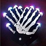 buwico® 1paire de gants crâne LED clignotante lumineuse Halloween Fête de Noël Gants