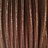 Câble électrique textile - Fil électrique tissu Brun Cuivr- câble textile