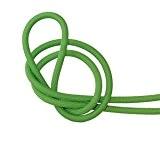 Câble électrique textile - Fil électrique tissu vert