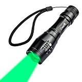 CrazyFire Lampe Torche de Chasse 1000 lumens Lampe LED Lumière Vert 5-Mode Lampe Torche Zoomable Pour Chasse (batterie non inclus)
