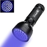 CrazyFire Lampe Torche Ultra Violet 51 LED Ultraviolet Lampe Etanche 395nm UV pour Détecté Tache/Urine Animale /Tapis alimenté par 3xAA ...