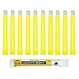 Cyalume Bâton lumineux jaune SnapLight Glow Sticks 15cm, Light Sticks très lumineux  avec durée de 12 heures (Boite de ...