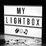 De cinéma Boîte à Lumière Lightbox A4 - Noir / Blanc - Liberty Lights