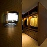 DECKEY Lampe LED Applique Murale Etanche à Détecteur de Mouvement Eclairage Sans Fil Exterieur pour Couloir Escalier Jardin