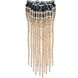 DXP Lot de 18 Bambou torches tiki torches de jardin party 90cm Couleur Naturelle EZH-01