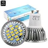 Elinkume 10X GU10 Ampoules LED 6W Lampe Bulb 16 SMD 5630 LED Spot Ampoule Lampe 500LM Super Lumineux lampe de ...