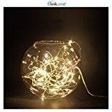 ELINKUME® 16,4 pi (5 M) 50LEDs à piles étanche LED Guirlande lumières 2W 3V fil argenté Flexible guirlande lumineuse (5 ...