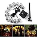 GreenClick Guirlande lumineuse solaire, Sakura Guirlande,50 LED, idéal pour les vérandas, les soirées, les mariages, le camping, les chambres, décorations ...