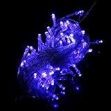 Guirlande Décorative 10 M 100 LED Lumières Bleues Prise UE Bout Extensible