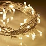 Guirlande Lumineuse d'Intérieur avec 40 LED Blanc Chaud sur Câble Transparent 3,2m par Lights4fun