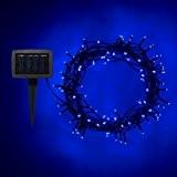 Guirlande Lumineuse Solaire avec 100 LED Bleues de Lights4fun