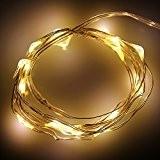 Guirlande Lumineuses Noel LED Lumières de Noël Guirlande Lumineuse Intérieur 50LED à Piles 2.5M Blanche Chaude Flexibles décoratives pour Noël, ...
