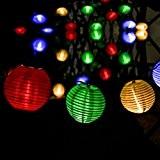 Guirlande Solaire Lampions,CrazyFire 20 LED 4.3M Guirlande Lumineuse Lanterne Solaire Exterieur Multicolore Décoration Extérieur ou Intérieur, Jardin, Cour, Couloir, Fête, ...