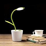 iEGrow Lampe de bureau LED, 1W USB 3 modes d'éclairage, de table, de lecture, luminosité ajustable tactile Lampes de chevet ...