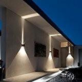 inhd Boîte applique murale extérieur LED Effet Lampe murale Lampe LED Lampe Lumière Filtre avec 2LED Protection IP54Adjustable, noir, Epistar ...