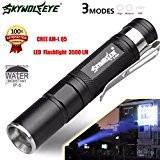 Internet 3500 Lumens Mini Tactical LED Q5 Lampe de poche de police Zoom Puissant militaire de grade étanche AAA Torche ...