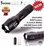 Internet 4000 Lumens G700 Tactical LED CREE XM-L T6 lampe de poche X800 Zoom Super Bright militaire de grade étanche ...