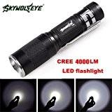 Internet 4000 Lumens Tactical LED Q5 Lampe de poche de police Zoomable Puissant militaire de grade étanche AA Torche En ...