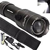 Internet 5000 Lumens Tactical LED CREE XM-L T6 Lampe de poche Zoom Super Bright militaire de grade étanche titulaire Torche ...