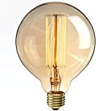 KINGSO E27 40W 220V G125 Globe Rétro Edison Lampe Ampoules à Incandescence